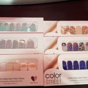 6 sets of Color Street nail polish strips